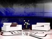 White furniture in modern interior — Stockfoto