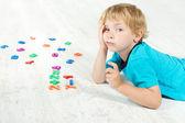 Child studying mathematics. — Stock Photo