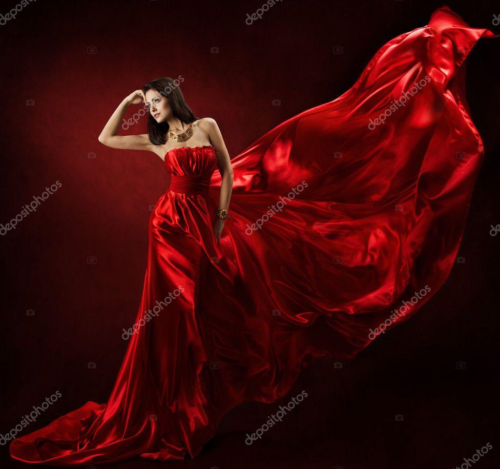 4 фото 1 слово девушка в красном платье