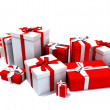 Gift boxes in white and red — Stockfoto #2896401