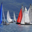 Boats at a buoy of Trofeo Gorla 2012 — Stock Photo