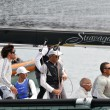 Crew of stravaganza winning the Trofeo Gorla 2012 — Stock Photo