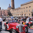 Red MG Starts the GP Nuvolari — Stock Photo