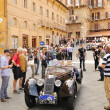 Dark green Riley Sprite in Siena — Stock Photo