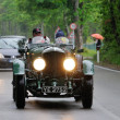Постер, плакат: Green Bentley Speed Six during 1000 Miglia