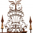Wrought iron floral decoration — Stock Photo