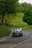 Blue Aston Martin Le Mans during 1000 Miglia — Stock Photo