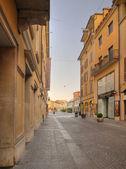 Centrum Brescii świcie, corso magenta — Zdjęcie stockowe