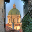 The dome of Duomo nuovo in Brescia — Stock Photo