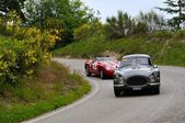 John Elkann's Gray 1954 Fiat 8V near Gubbio — Stock Photo