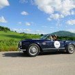 Blue Lancia Aurelia B24 Spider — Stock Photo