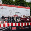 Постер, плакат: Red Ford Model B 1933 starts the 1000 Miglia