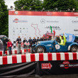 Argentinian driver Juan Tonconogy starts the 1000 Miglia he will win — Stock Photo