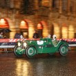 Green MG K3 Magnette, 1933, drives by the Arena di Verona during 1000 Miglia — Stock Photo