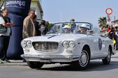 A white Lancia Flavia Convertibile — Stock Photo