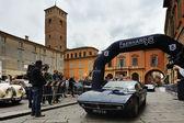 A blue Maserati Ghibli in Reggio Emilia, Italy — Stock Photo