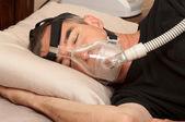 睡眠呼吸暂停与 cpap — 图库照片