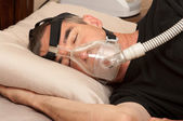 Sleep Apnea and CPAP — 图库照片