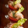 Shrimp Appetizer — Stock Photo