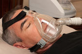 Sleep Apnea and CPAP — Stock Photo