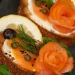 Smoked Salmon — Stockfoto