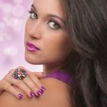 capelli, make up e manicure — Foto Stock