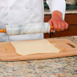 Stock Photo: Rolling Dough