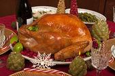 Vánoční večeře — Stock fotografie