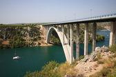 Bridge over the river Krka — Stock Photo