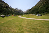 Camping in Pont - Valsavaranche — Stock Photo