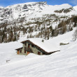 Valle d'Ayas in winter — Stock Photo