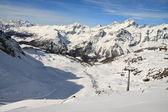 Ski slope (Monte Rosa) — Стоковое фото