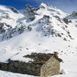 Gressoney valley in winter — Stock Photo #22369937