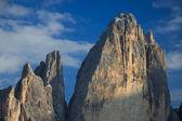 Szczyt mały i wielki szczyt lavaredo — Zdjęcie stockowe