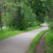 Stretch of the bike path San Candido - Lienz — Stock Photo