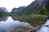 Lake Toblach — Stock Photo