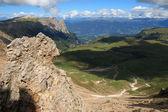 Alpe di Siusi from the fork Teeth Roterd — Stock Photo