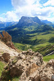 Alpe di Siusi and Sassopiatto — Stockfoto