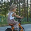 Two little boys riding on a bicycles in a sunny summer day. — Stock Video #16177629