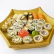 Assortment of traditional Japanese Sushi — Stock Photo