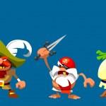 Funny cartoon pirates — Stock Photo #19474611