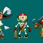 Funny cartoon pirates — Stock Photo #19474613