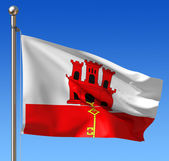 Flag of Gibraltar — Stock Photo