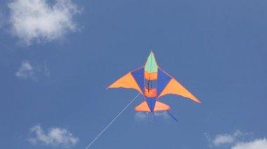 Kite flying in the sky — Stock Video