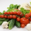 Assortment of fresh vegetables close up — Stock Video