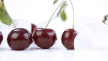 Ripe cherries — Stock Video