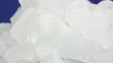 Ice cubes closeup — Stock Video