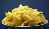 Potato chips plate — Stock Photo