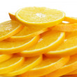 Many slices of orange fruit — Stock Photo