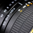 Stock Video: Close up of aperture scale